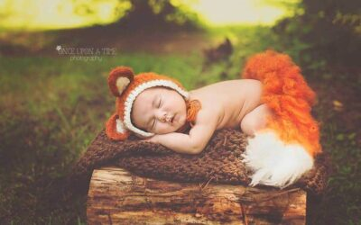 Fox, Wolf, or Raccoon Crochet Baby Outfit
