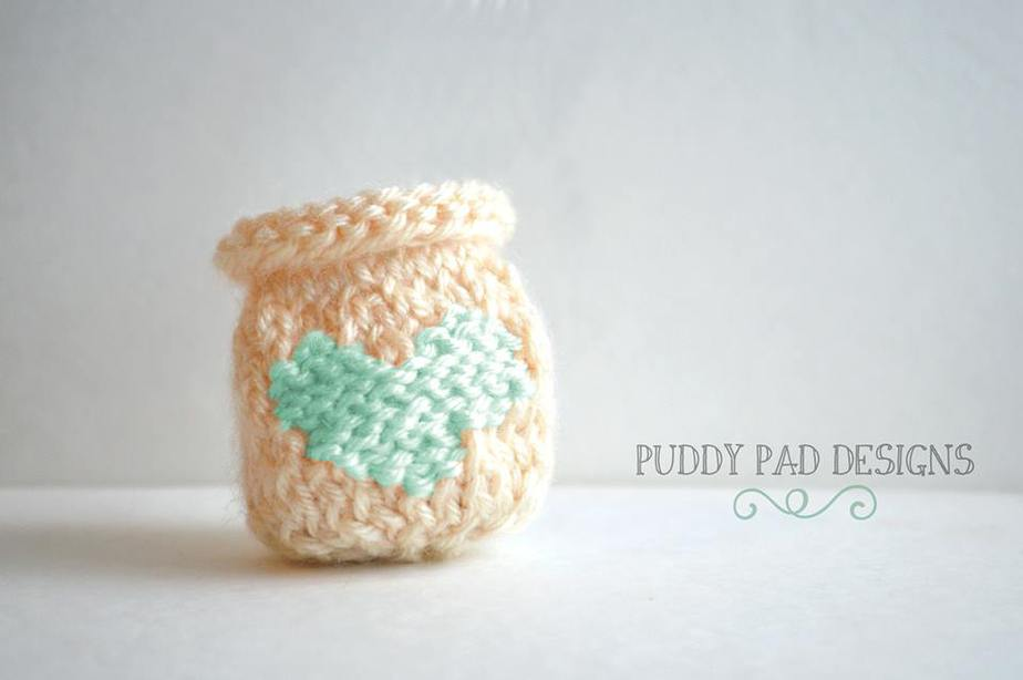 1Knit EOS Lip Balm Holder / Key Chain by Briana K Designs