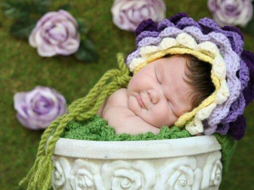 Flower Bonnet Hat
