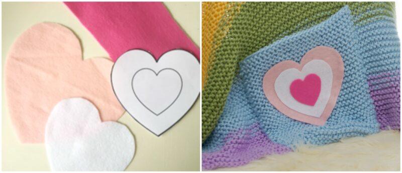 Rainbow Blanket Felt Applique