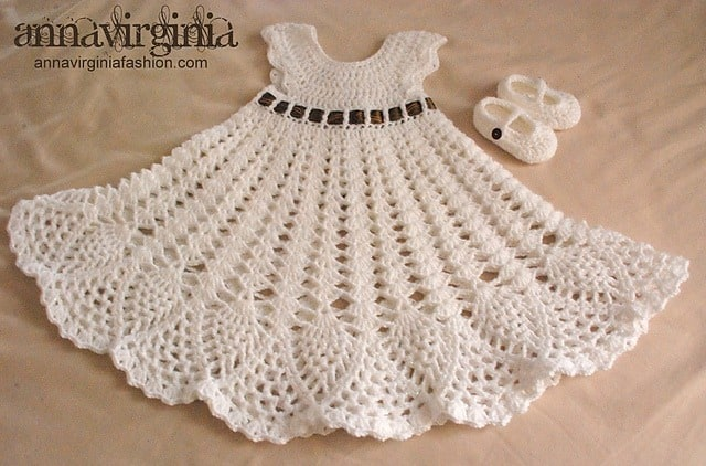 Sophia Crochet Heirloom Dress by Briana K Designs