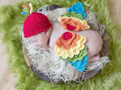 Newborn Bird with Hat/Tieback Options