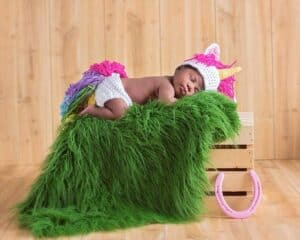 Unicorn Crochet Newborn Outfit by Briana K Designs
