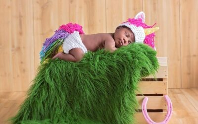 Unicorn Hat and Diaper Cover Newborn – 12 Months