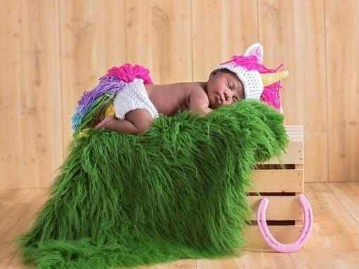 Unicorn Hat and Diaper Cover Newborn – 12 Months