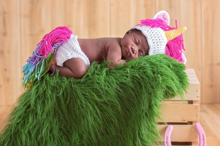 Unicorn Crochet Newborn Outfit by Briana K Designs