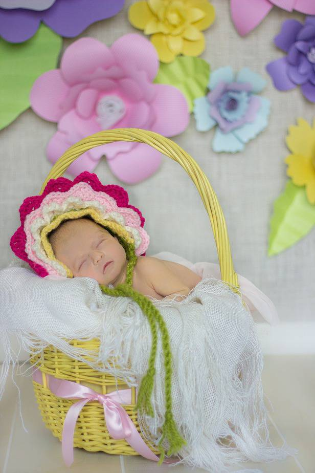 Flower Crochet Bonnet by Briana K Designs