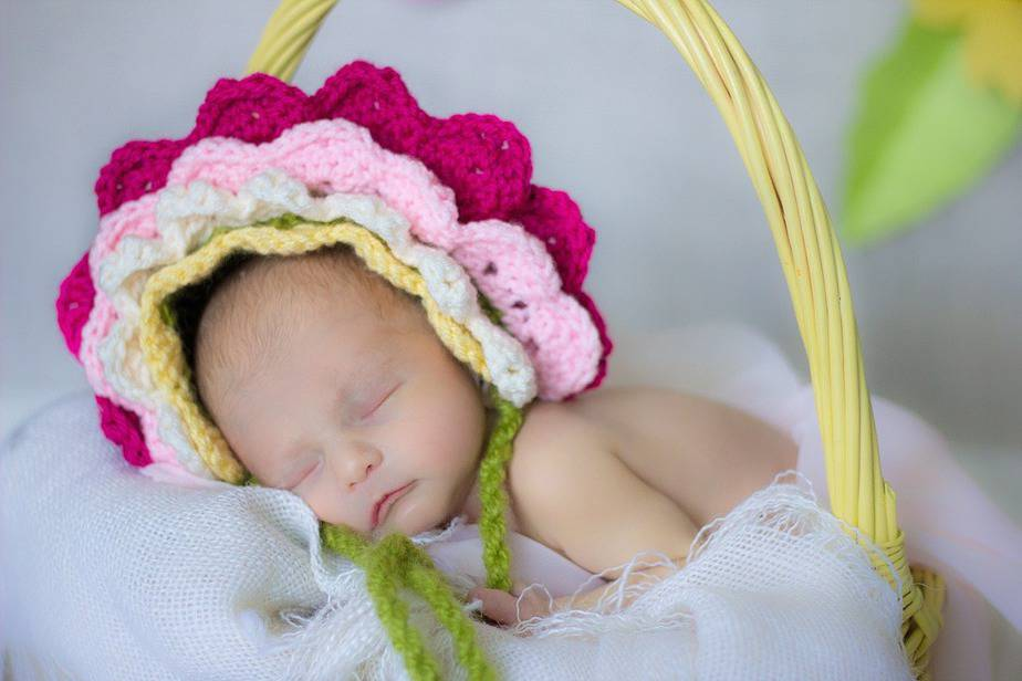 Flower Crochet Bonnet by Briana K Designs