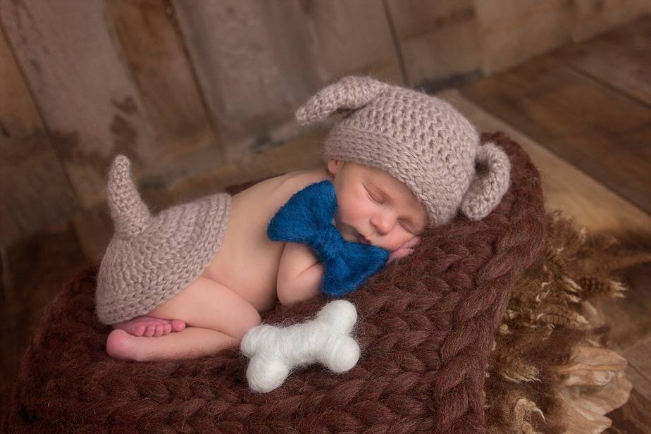 Puppy Dog Crochet Newborn Outfit by Briana K Designs