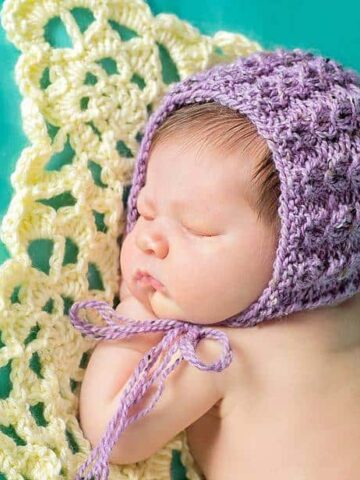 Adalicia Knit Newborn Bonnet by Briana K Designs
