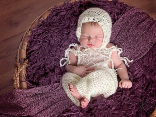 Lace Crochet Overall Set
