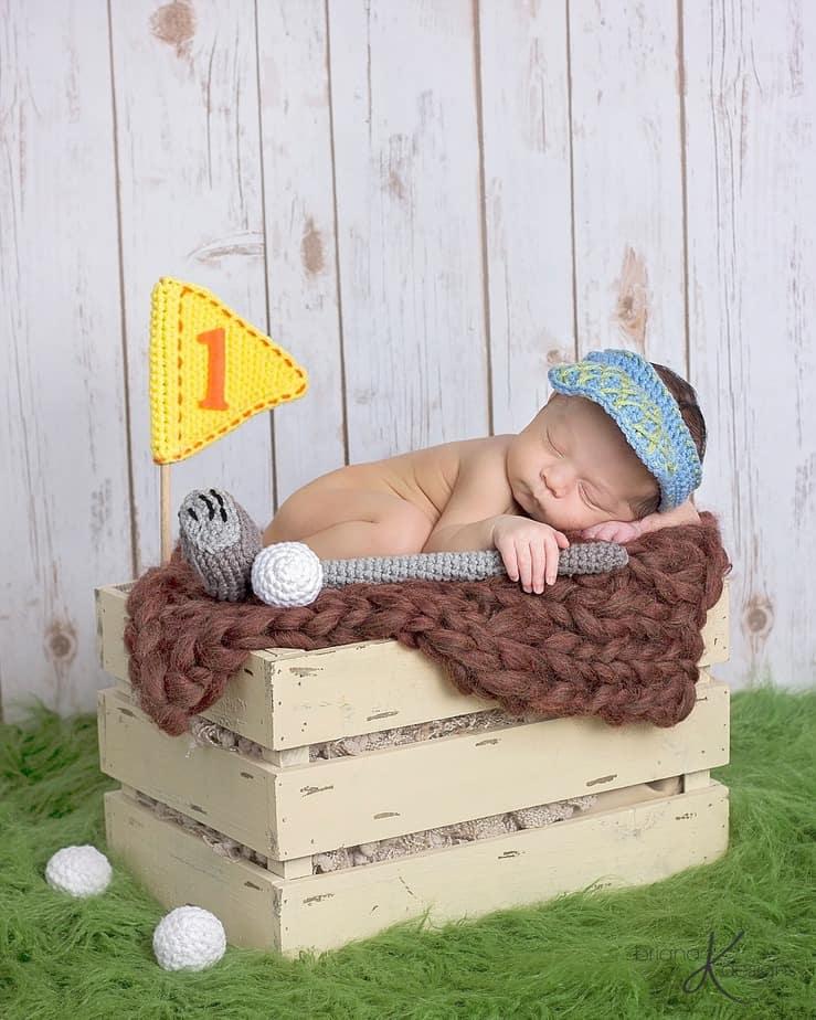 Golf Crochet Set by Briana K Designs