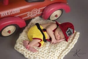Firefighter Crochet Newborn Outfit by Briana K Designs
