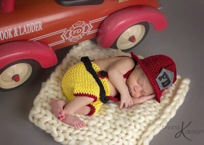 Newborn Firefighter Outfit