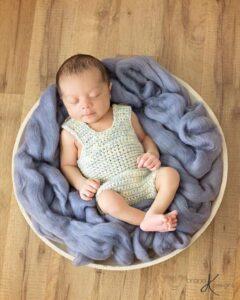 Simple Crochet Romper Newborn by Briana K Designs