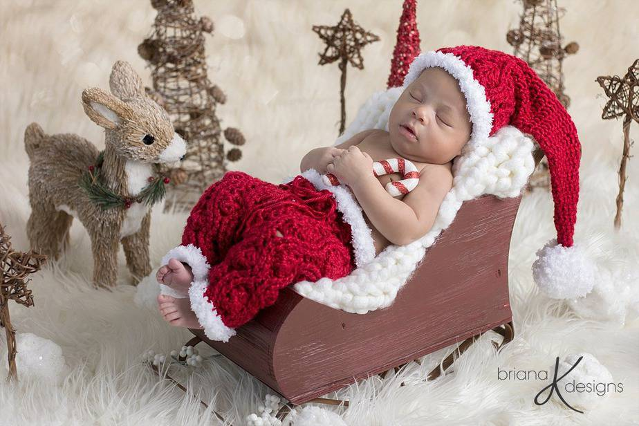 Colton Crochet Set with Bonus Santa Hat by Briana K Designs