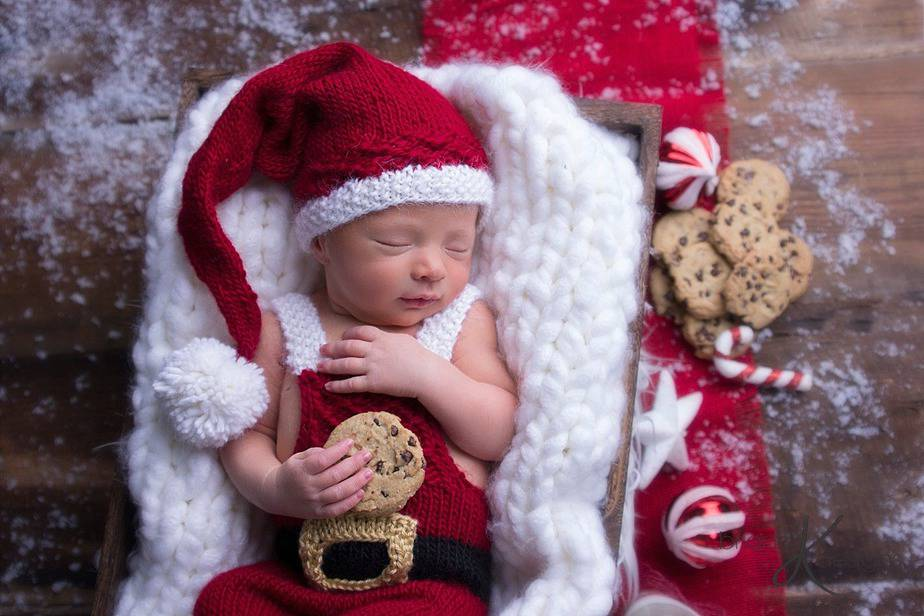 Santa Knit Overall and Hat by Briana K Designs