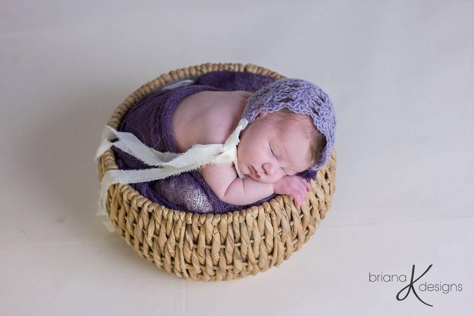 Newborn Crochet Mohair Bonnet by Briana K Crochet