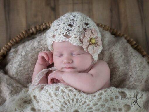 Newborn Mohair Bonnet