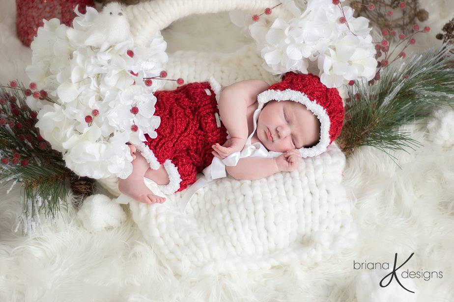 Elegant Vintage Crochet Bonnet and Romper by Briana K Designs