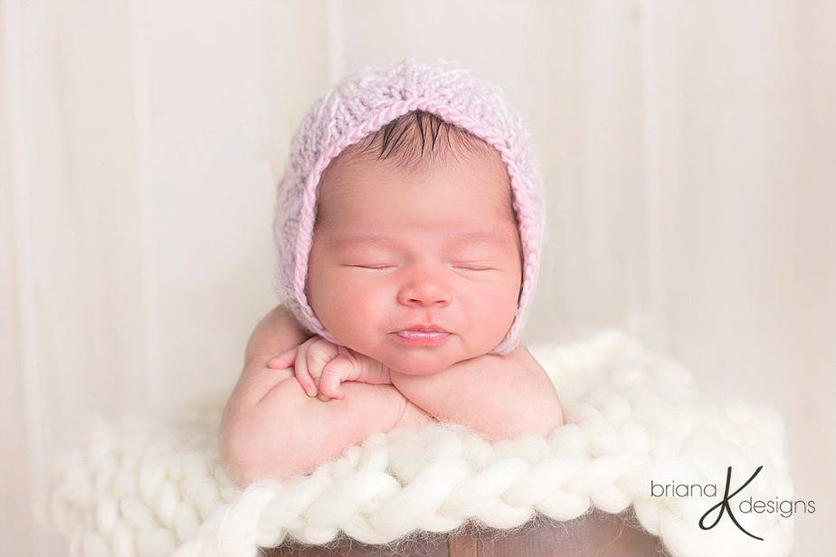 Rosalyn Knit Bonnet by Briana K Designs