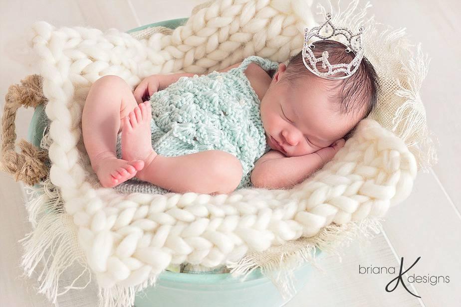 Knit Mermaid Maddie Romper by Briana K Designs