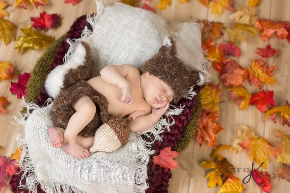 Squirrel Newborn Outfit by Briana K Designs