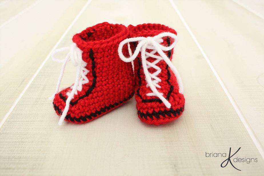 Boxing Baby Shoes by Briana K Designs