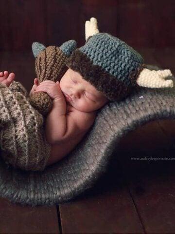 Caveman crochet Hat and Club by Briana K Crochet