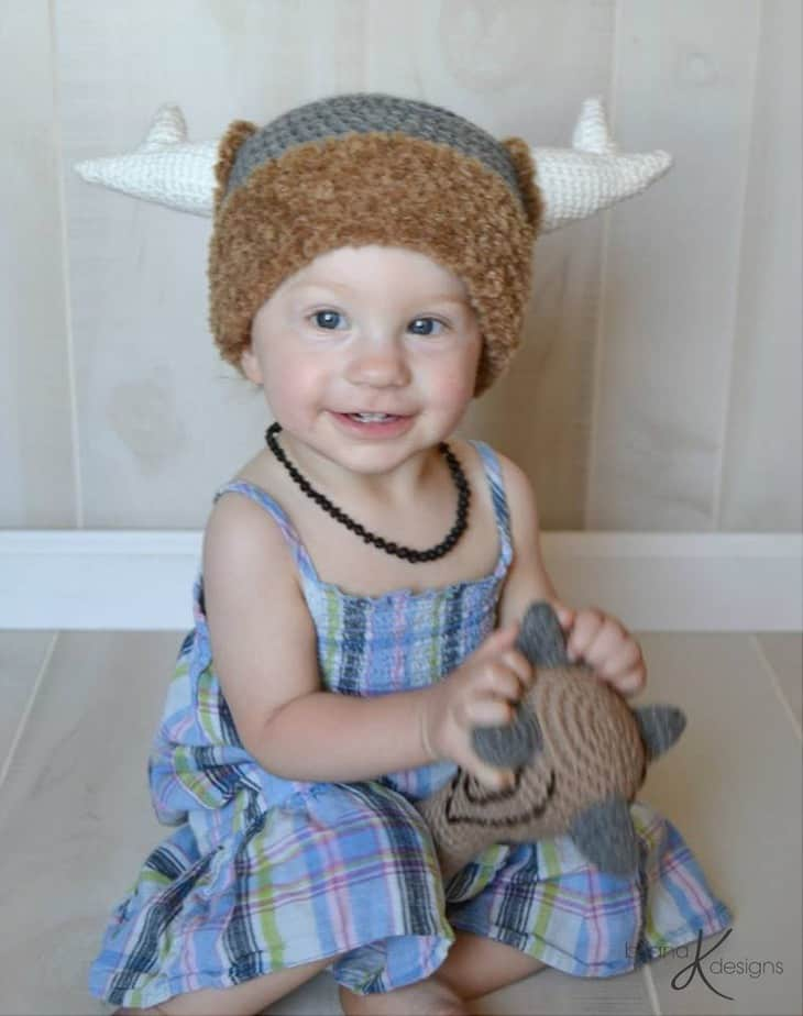 Caveman crochet Hat and Club by Briana K Crochet