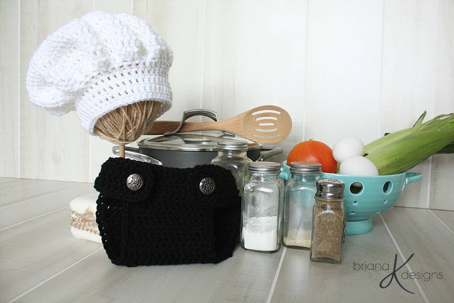 Newborn Chef Crochet Outfit by Briana K Designs