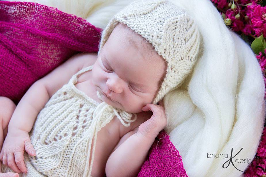 Tulip Knit Bonnet by Briana K Designs