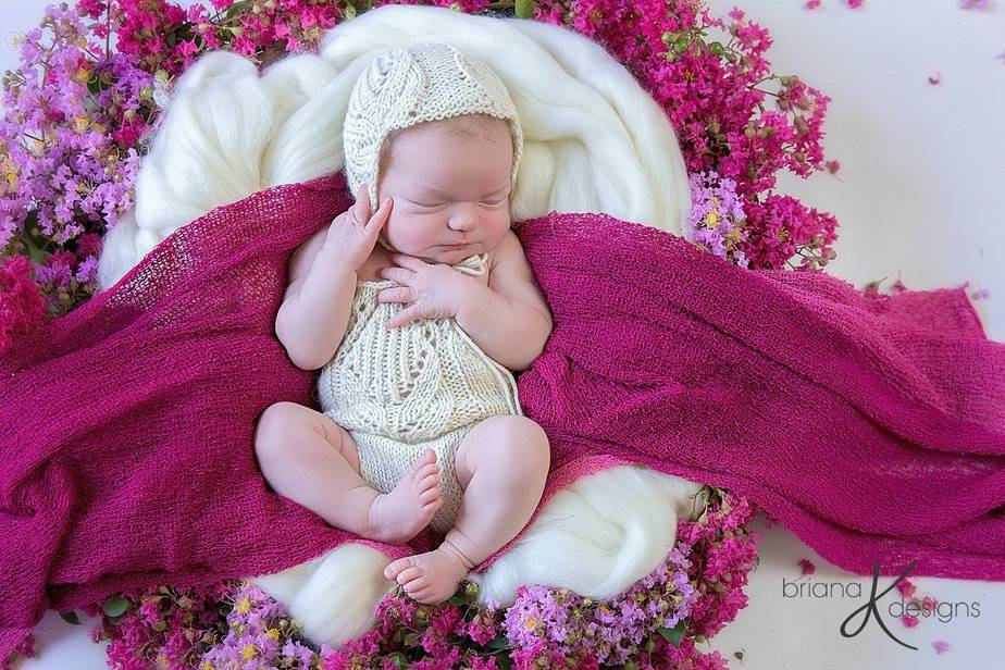 Tulip Knit Romper by Briana K Designs