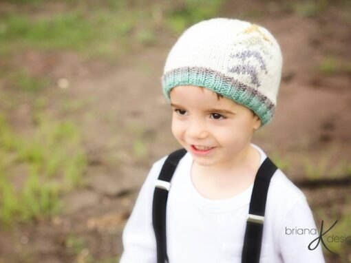 Arrow Beanie Hat Knit