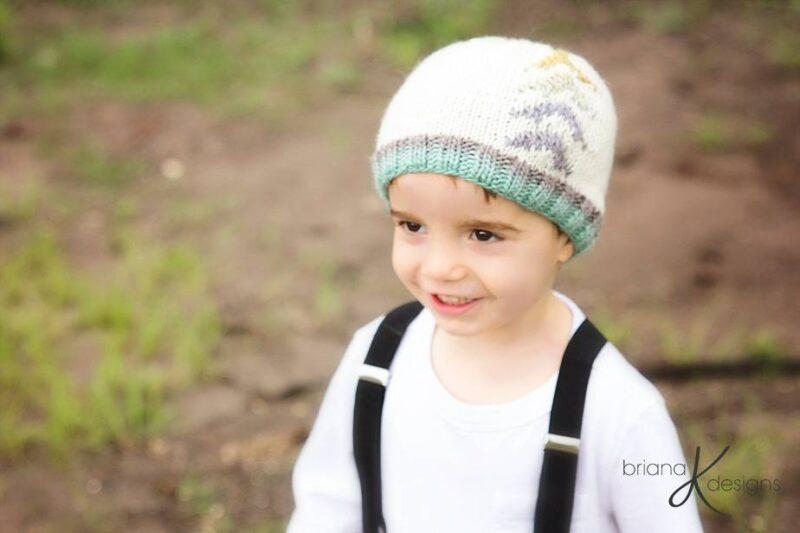 Arrow Beanie Hat Knit by Briana K Designs