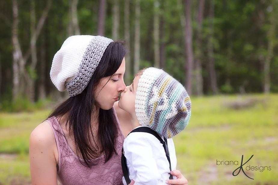 Arrow Slouchy Hat Crochet