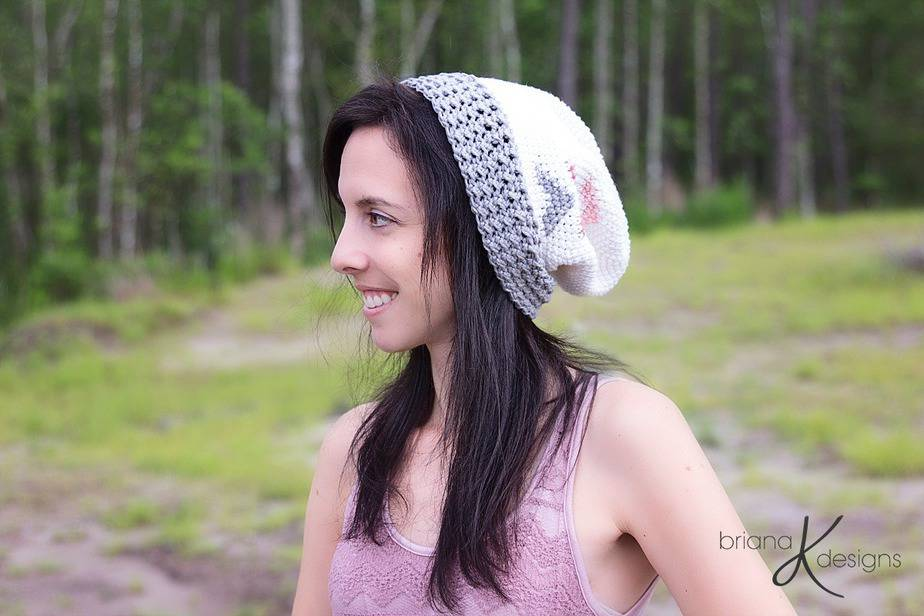 Arrow Slouchy Hat Crochet by Briana K Designs