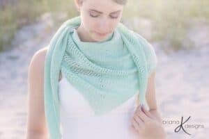 Light Summer Knit Shawl Wrap by Briana K Designs