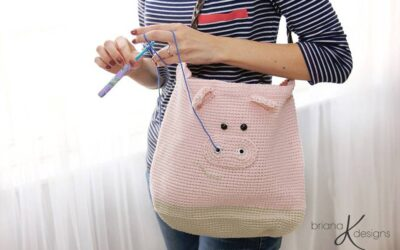 Pig Project Bag or Purse for Crafters