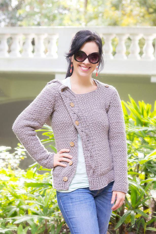 Cabled Crochet Jacket Chameleon Style by Briana K Designs