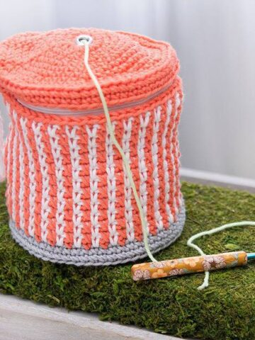 Cake Crochet Yarn Project Bag by Briana K Designs