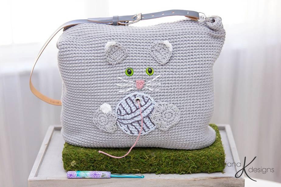 Cat Yarn Project Bag