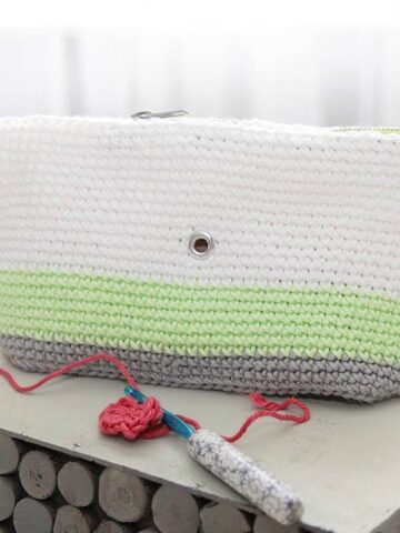 Clutch Wristlet Crochet Project Bag by Briana K Designs