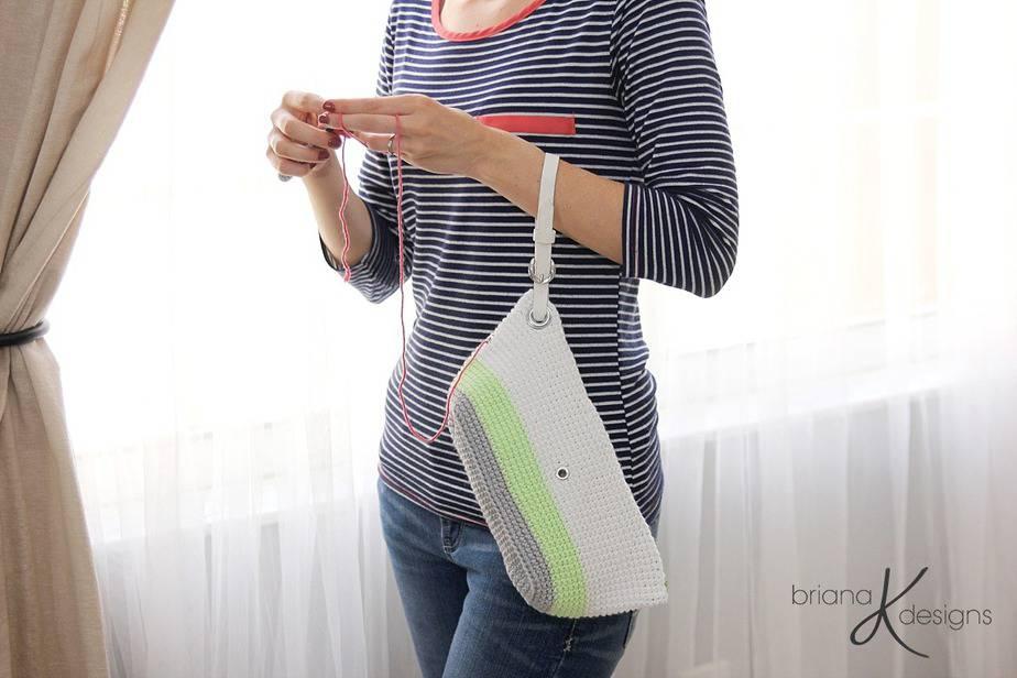 Clutch Wristlet Crochet Project Bag by Briana K Designs