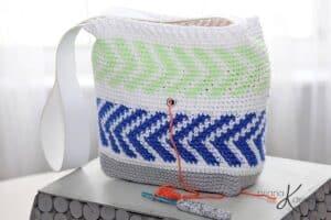 Crochet Arrow Project Bag by Briana K Designs