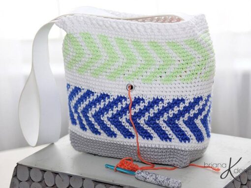 Crochet Arrow Project Bag