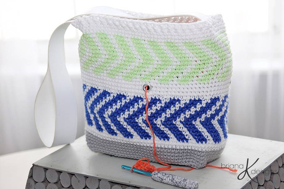 Crochet Arrow Project Bag by Briana K Designs
