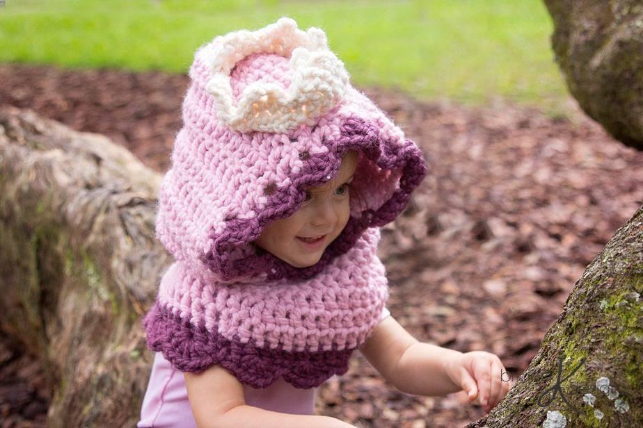 Princess Crochet Hooded Cowl by Briana K Designs