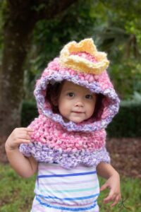 Princess Crochet Hooded Cowl by Briana K Designs
