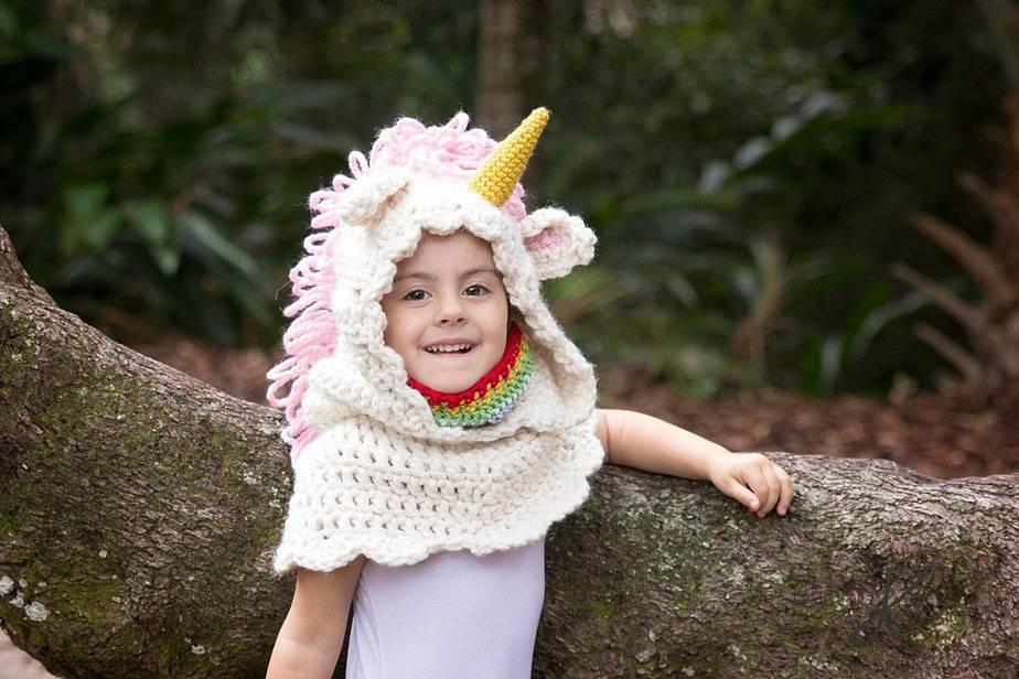 Unicorn Crochet Hooded Cowl by Briana K Designs